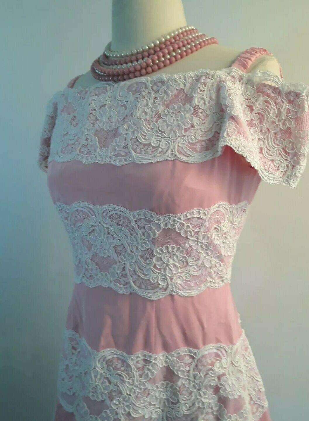Vintage 80s  Scaasi Boutique Sax Fifth Ave Pink& … - image 7