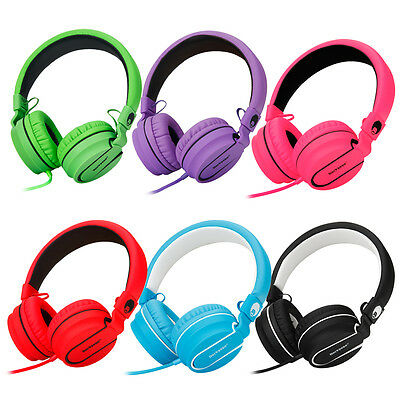 RockPapa Foldable Folding Over Ear Headphones Headsets Mic for iPod iPad iPhone