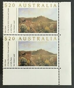1990-20-Stamps-039-Gardens-Definitive-Issue-039-Corner-Block-of-2-MNH