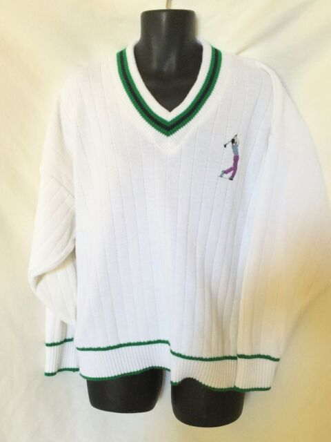 Kenny V Neck Golf Sweater Made In Ireland XL