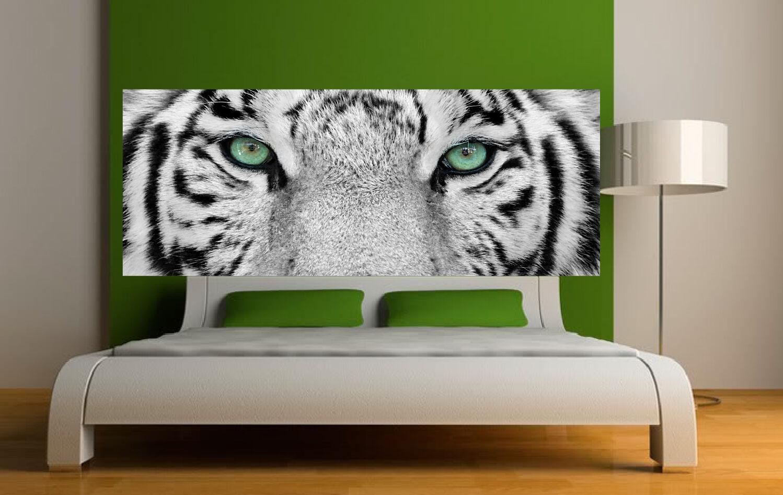 Papier Lackiert -kopf Bett Augen von Tiger 3612