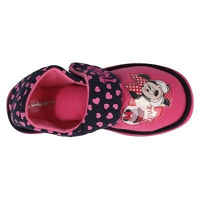 Chicas Disney Minnie Mouse Zapatillas Rosa/Rojo Uk Tamaños 6-12 frontera