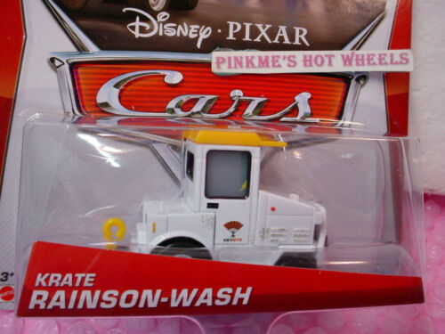 2013 Disney Pixar Cars KRATE RAINSON-WASH✿White />Airport Adventure~New