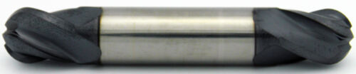 "1//4/"" Dia 1//2/"" LOC 4 Flute Double End Ball ALTiN Carbide End Mill USA #52690"