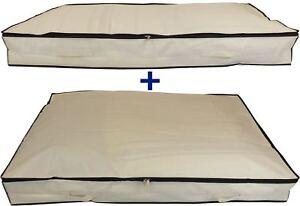 Image Is Loading Neusu Slimline Under Bed Storage Bags Value Pack