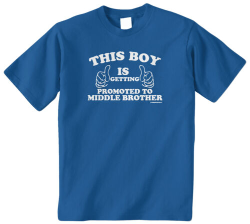 Threadrock Boys Getting Promoted to Middle Brother Youth T-shirt Sibling