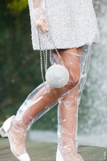Overkneestiefel Gummistiefel Damen Schuhe Slipper Stiefel Transparent Mode Stiefel Slipper 2c1307