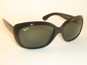 ee5047f014 New Ray Ban JACKIE OHH Sunglasses Black Frame RB 4101 601 Green ...