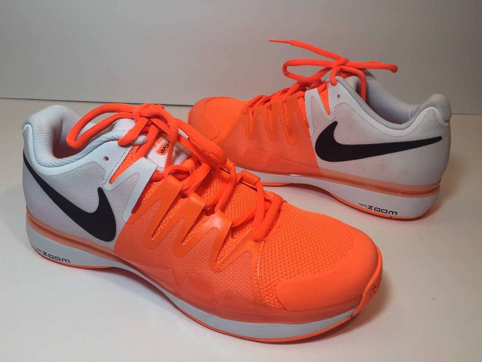 NIKE NEW ZOOM VAPOR 9.5 TOUR MENS SNEAKERS TENNIS SHOES orange WHITE BLACK 6 1 2