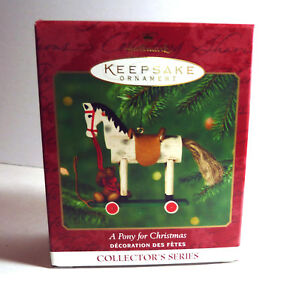 Hallmark-034-A-Pony-for-Christmas-034-3rd-in-Series-Keepsake-Ornament-2000-New