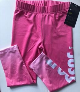 522162411d0df NWT Nike Dry-Fit Toddler Girl Pink Leggings Size 4T Just Do It | eBay