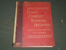1800'S ENGLISH FURNITURE WOODWORK DECORATION BY T. A. STRANGE VOLUME - KD 3594