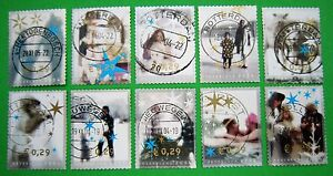 Nederland-NVPH-2296-t-m-2305-Decemberzegels-2004-gestempeld