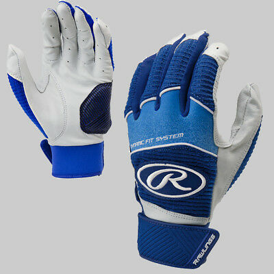 Lists @ $22 Rawlings Adult 5150 Baseball Batting Gloves Navy NEW