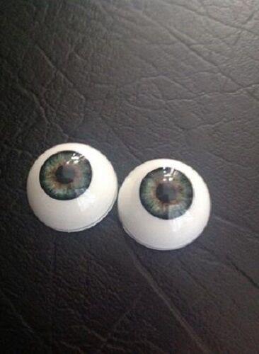 22mm Pabol Gray//hazel Acrylic Half Round Doll Eyes FAST SHIPPING!!!