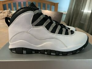 best cheap 3689b 58020 Details about 2005 Retro Air Jordan 10 White Steel Grey Size 8