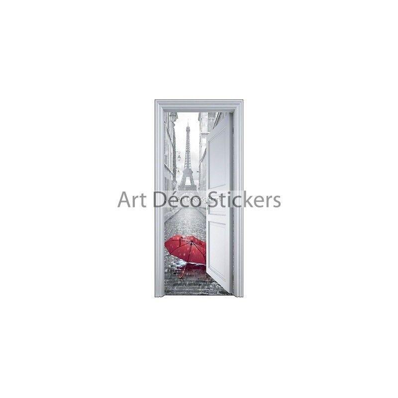 Adhesivo Puerta Trompa Trampantojo Paraguas 90x200cm 9110 Prestashop-5564