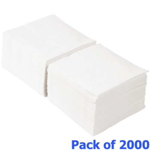 Paper Tissue Serviettes Drink Party 2000 White Cocktail Bar Napkins 24cm 2ply