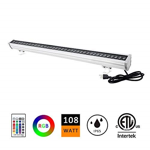 H-TEK 108W RGBW LED Wall Washer Light, Farbe Changing, Linear Strip Light with