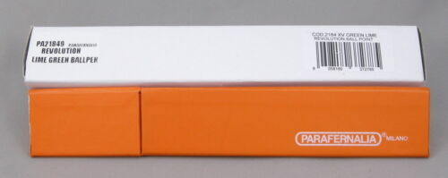 Parafernalia Revolution Ballpoint Pen New In Box Lime Green Made In Italy