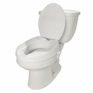 Molded Toilet Seat Riser With Lid 2 Inch Lift EBay