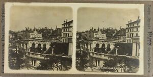 Suisse Lausanne, Le Jardins Appendere, Foto Stereo Vintage Analogica PL60OYL2