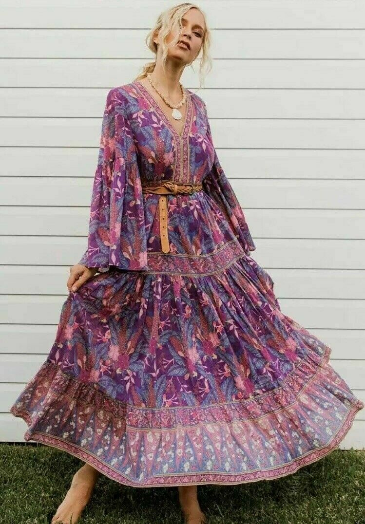 NWT FREE PEOPLE by SPELL /& THE GYPSY COLLECTIVE BIANCA WISTERIA GOWN DRESS XS