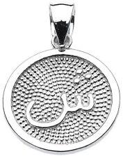 "Sterling Silver Arabic Letter "" shiin "" s'  Initial Charm Pendant"