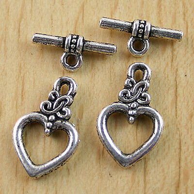 12sets  Tibetan silver toggle clasps h0449