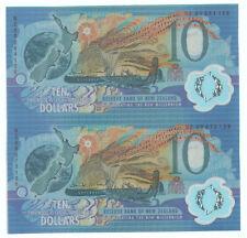New Zealand $10 2in1 uncut UNC Polymer Commemorative Millennium