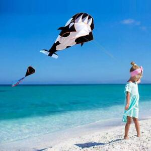 3D-Cartoon-Whale-Software-Kite-Single-Line-Outdoor-Toy-Gift-Beach-Toy