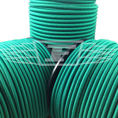 Marine Rope 6mm Elastic Bungee Rope Shock Cord Tie Down Green Roof Racks Trailers Boats