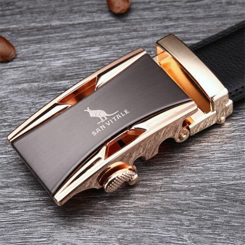 Belt Men Good Quality Cowskin Genuine Luxury Leather Men/'s Bels Automatic Buckle
