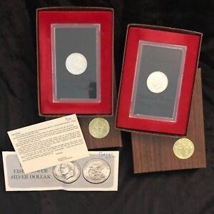1971-S-1-Silver-Proof-Ike-Dollar-Eisenhower-Set-of-2