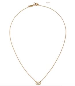 NEU Satya Halskette mit whiteem Topaz im Auge - 18 Karat vergoldet