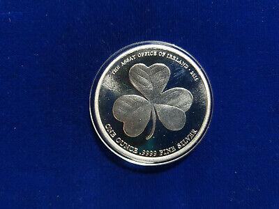 2015 The Assay Office of Ireland 1 oz 9999 Silver Round Lucky Shamrock Clover