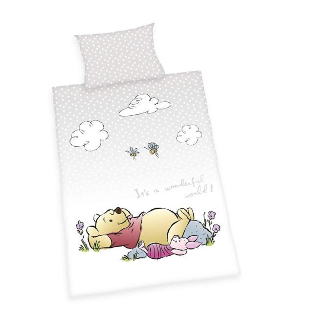 Lenzuola Winnie The Pooh.Herding Lenzuola Winnie Pooh Biancheria Letto Neonato 100 X 135 Cm