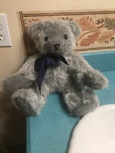 """Vintage 15"""" Blue Mohair Bear """"Design by Althea"""" Fully Jointed. Free Shipping"""
