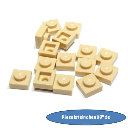 LEGO ® 15x Plaque 1x1 Beige 3024 4159553 ra15