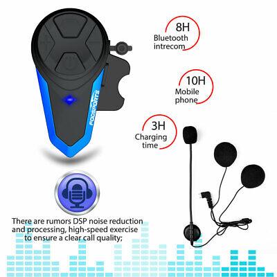 1200M BT Interphone Motorcycle Motorbike Bluetooth Helmet Intercom Headset FM UK