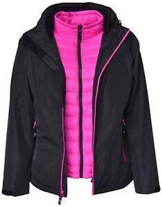 New Pulse Womens Plus Size 3in1 Swiss Snow Ski Jacket 1x 2x 3x 4x 5x