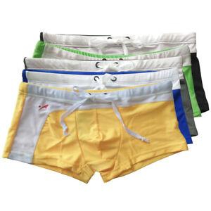 Men-039-s-Shorts-Swimwear-Trunks-Underwear-Boxer-Briefs-Beach-Summer-Bulge-Pouch
