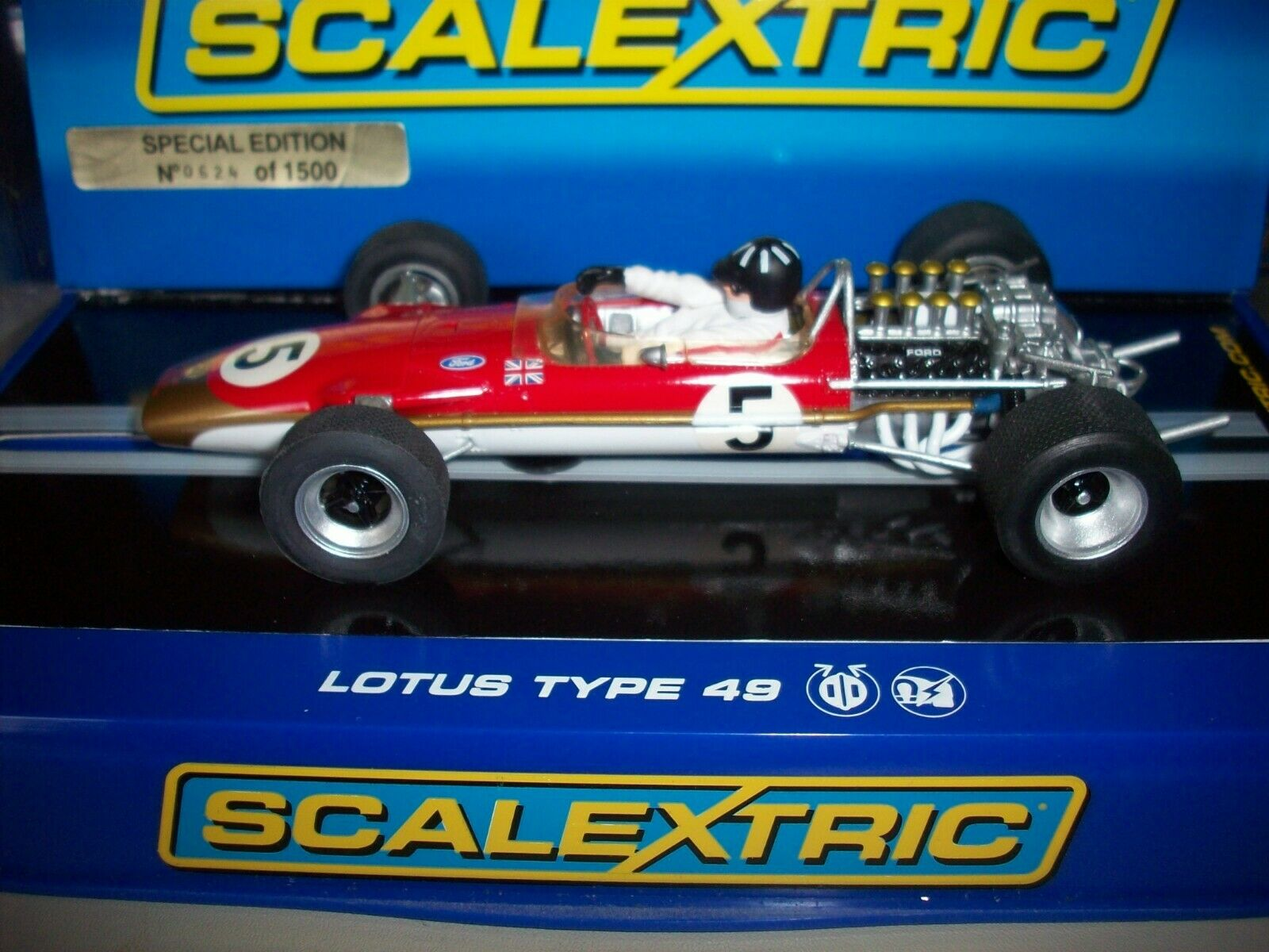 Scalextric C2984 Team Lotus 49 Graham Hill gold Leaf Limited Edn 624 1500 New