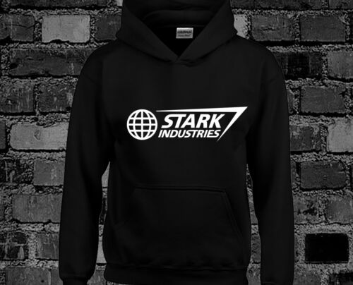 Stark Industries Hoody Hoodie Top Iron Man Avengers Movie Film Thor Superhero