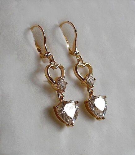 STUNNING 9ct gold gf drop hoop earrings VALENTINES SPECIAL PRICE,LAST FEW LEFT 8