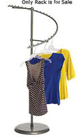 Retail Boutique Raw Steel Spiral Clothes Rack Overall Height 60
