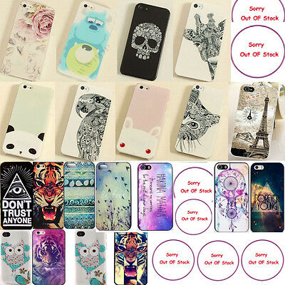 CUTE DESIGN MiX PatternS Hard Back Skin For Iphone 5S/5 4S/4 Case Cover Fashion@