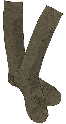 New COOLMAX BOOT SOCKS - OLIVE GREEN - All Sizes Hiking Military Foot Thermal
