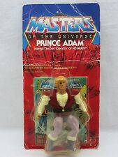 MOTU,Vintage,PRINCE ADAM,Masters of the Universe,MOC,carded,Sealed,figure,He-Man