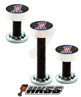 3 Silver Billet Vent Windshield Bolts For 14-up Harley - Usa Flag 1 B 0ph